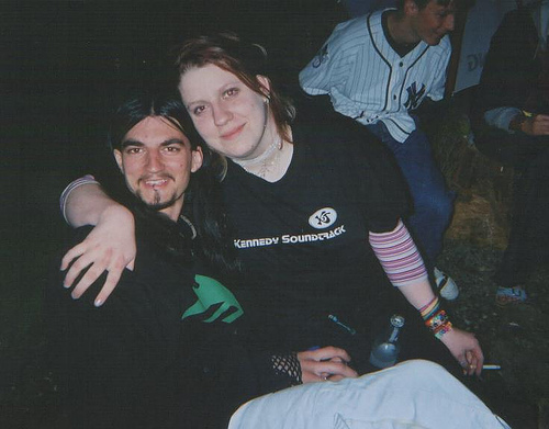 Me and my friend Jeremy at the after prom party, ten years ago (gross), holding a cigarette (also gross).