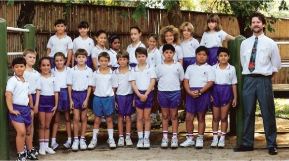 Class photo! (In our PE kit, for some reason)