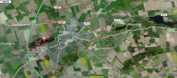 Forfar multi terrain half marathon route: 2013
