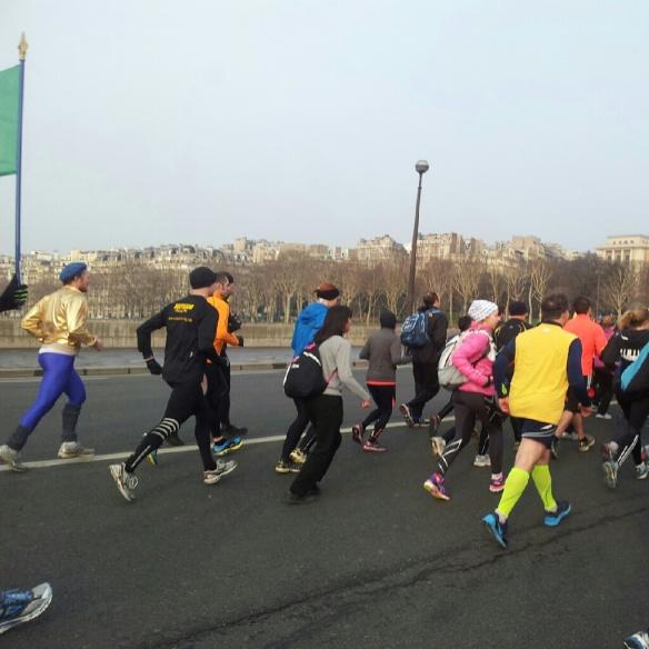 Crossing the Seine.