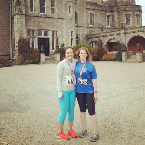 Me and Danielle (rocking the luminous look) after the race