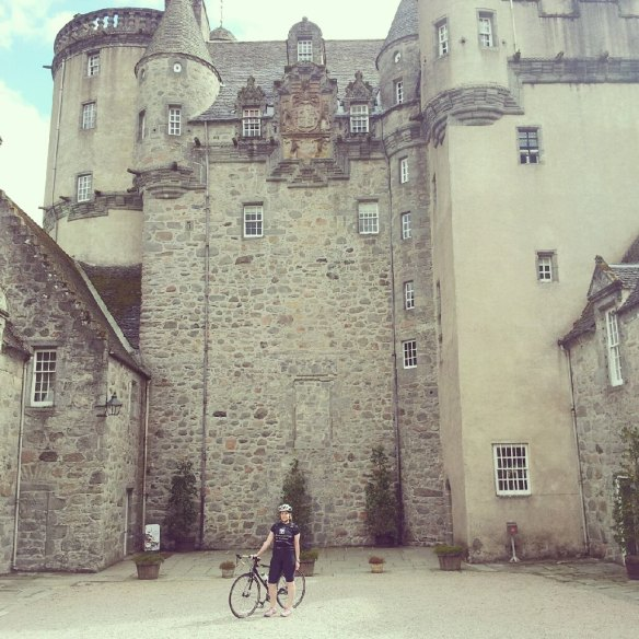 Outside Castle Fraser