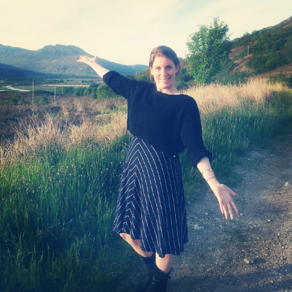Stretching our legs near Loch Carron