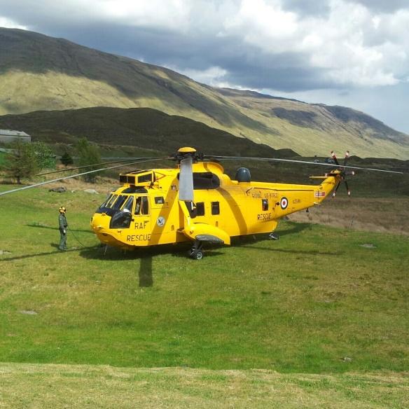 RAF Mountain Rescue chopper