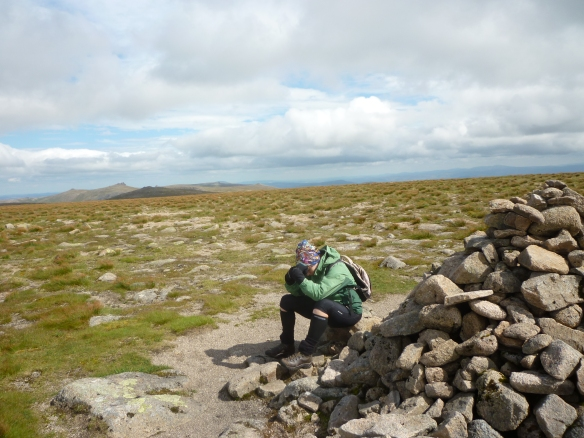 At the summit of Beinn a'Bhuird