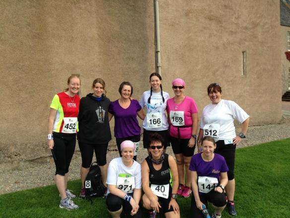 Back row (l-r): Naomi, me, Shona, Susan, Ann, Maz.  Front row (l-r): Suzy, June, Lesley