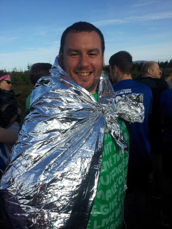 Ronnie and his stylish foil cape.