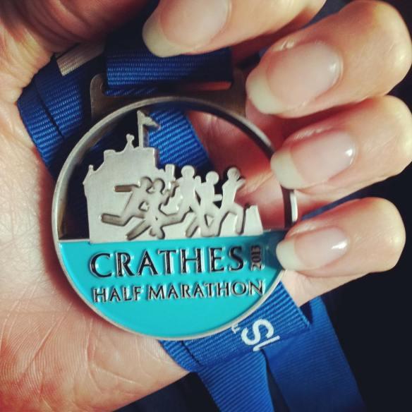 Crathes 1/2 marathon medal