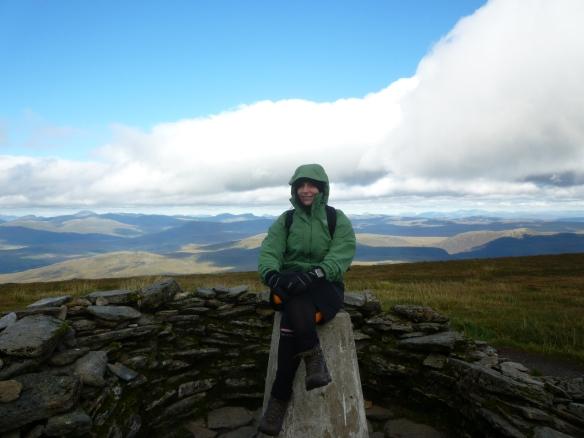 At the summit of Ben Wyvis.
