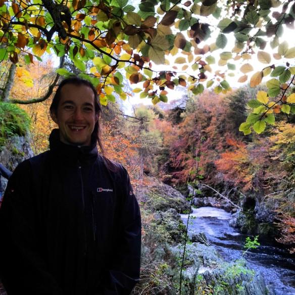 Ian and the colourful foliage.