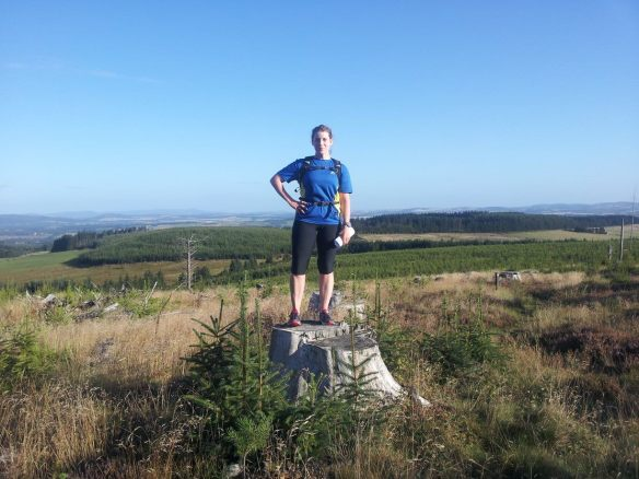 Looking down upon Aberdeenshire - summer 2013