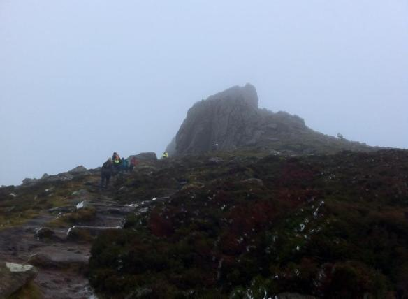 Approaching the summit of Clachnaben.