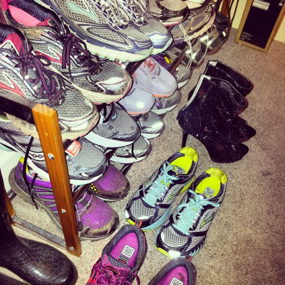 A Brooks orgy.  And some beautiful sequined ankle boots.