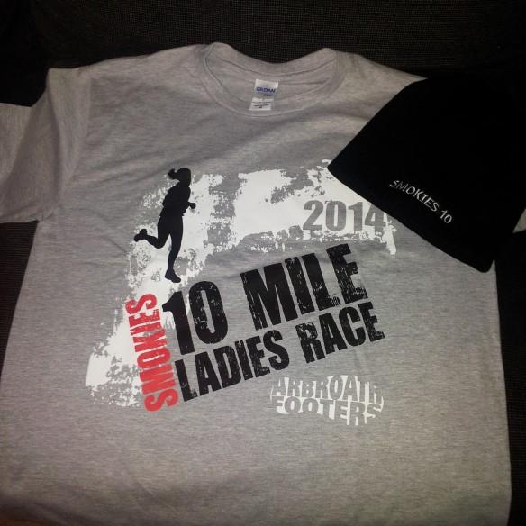 Smokies 10 mile shirt + beanie