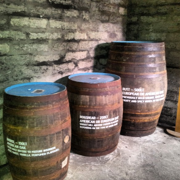 Different sizes of barrels