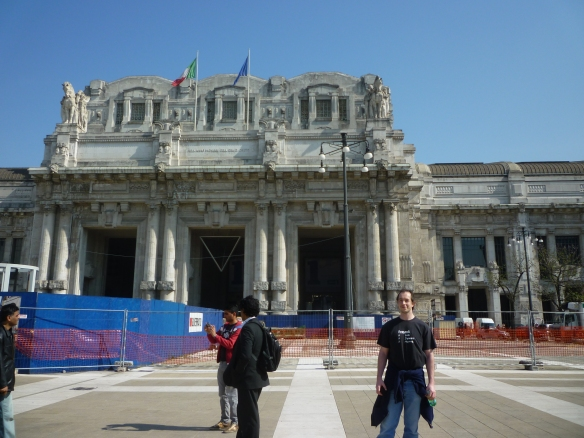 Ian outside Stazione Centrale, Milan