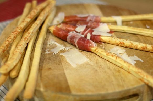 San Daniele ham and grissini