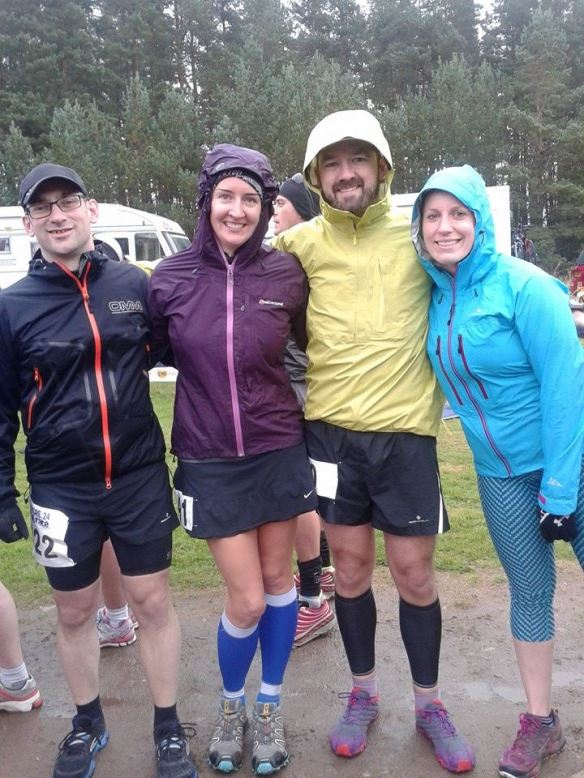 L-R: Iain, Rhona, Graeme, me (before the start)