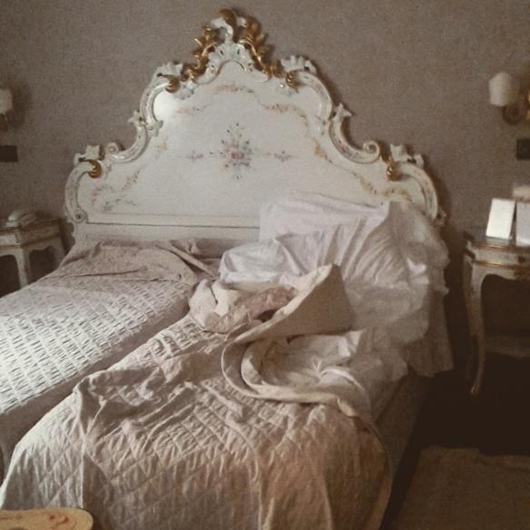 Goodbye Venetian bed.