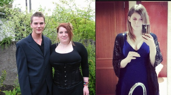 (Left) Prom 2002, (Right) Prom 2015