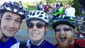 At the start - L-R: Ian, me, Bruce